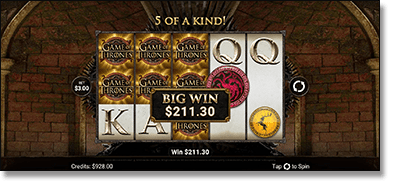 Play Game of Thrones mobile pokies on your smartphone or tablet