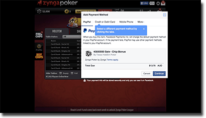 Zynga Poker virtual currency