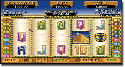 Cleopatra's Gold mobile slots by RTG