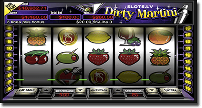 Dirty Martini mobile slots by RTG