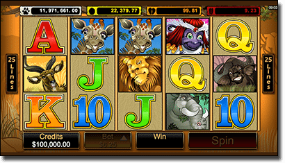 Mega Moolah progressive jackpot slots on iPhone
