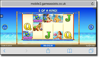 Bikini Party mobile pokies by Microgaming
