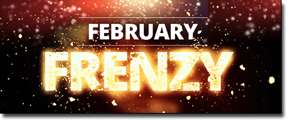 Feb Frenzy bonuses at Roxy Palace Casino