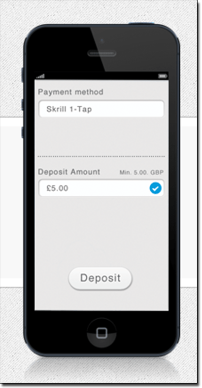How to deposit on mobile using Skrill