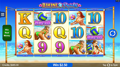 Bikini Party Android and iPhone mobile pokies by Microgaming