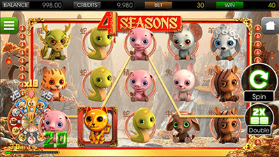 4 Seasons mobile pokies by BetSoft