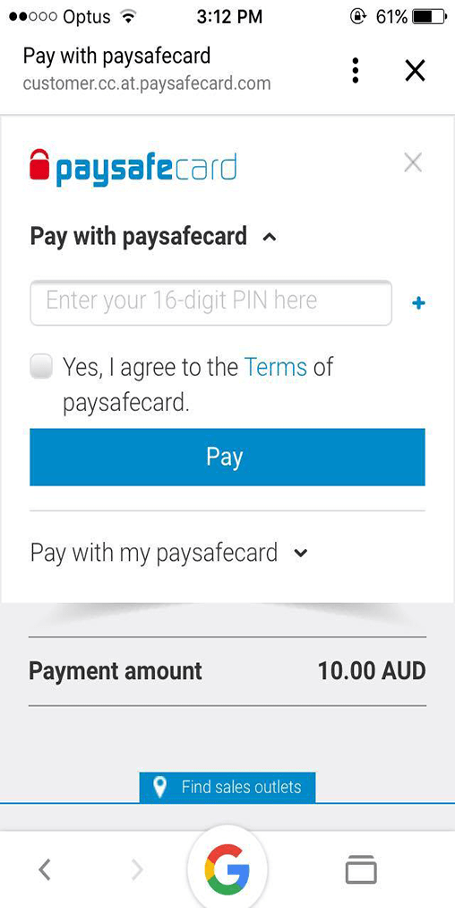 deposit with paysafecard on mobile devices
